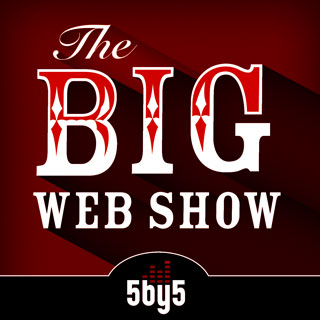 Logo treatment for The Big Web Show on 5by5 network.