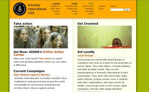 Brand enrichment and content streaming: Amnesty International USA