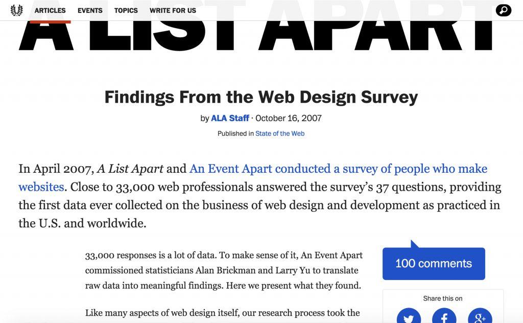 AListApart Surveys