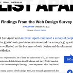 AListApart Surveys