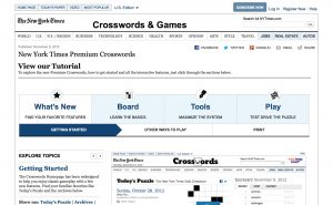 Getting a Clue: New York Times Crosswords