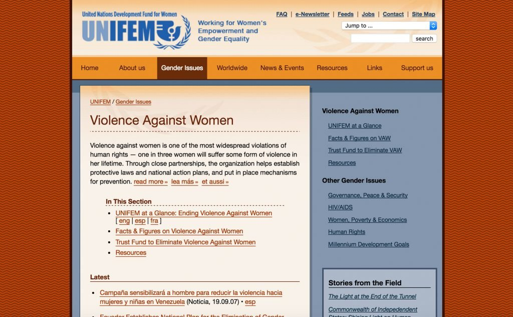 The United Nations Development Fund for Women (UNIFEM)